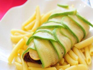 خوراك كدوی سبز و ماهی