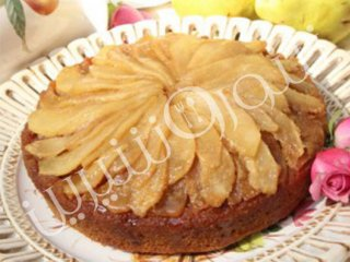 كیك گلابی كاراملی | طرز تهیه کیک