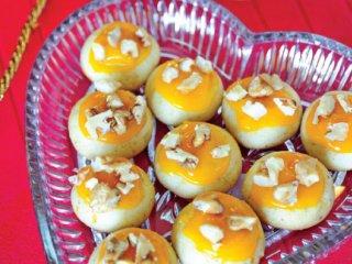 شیرینی پرتقال و گردو