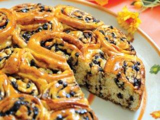 نان شیرینی شكلات و گردو