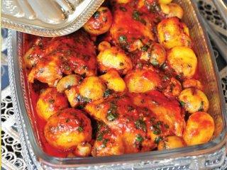 خوراك گوجهفرنگی و مرغ