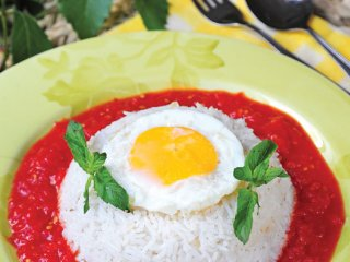 پلو گوجهفرنگی اسپانیائی