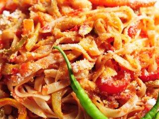 فتوچینی با كدو و گوجه فرنگی (گیاهی)