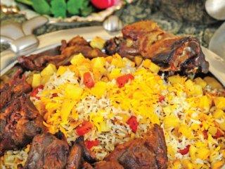 هويج پلو با گوشت قورمه (کرمان)