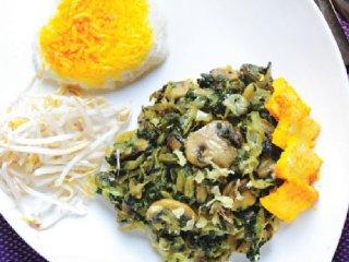 خوراك كلم و اسفناج (گیاهی)