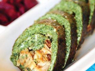 رولت سبزی با ماهی