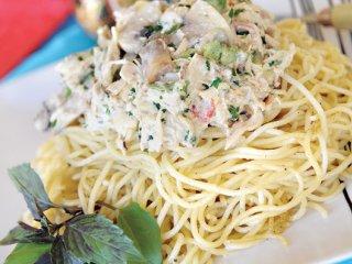 اسپاگتی با سس آلفردو