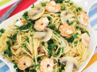 اسپاگتی با سس میگو