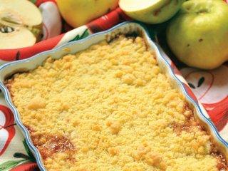 دسر كرامبل سیب و به