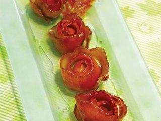 مربا پوست پرتقال به شكل گل رز