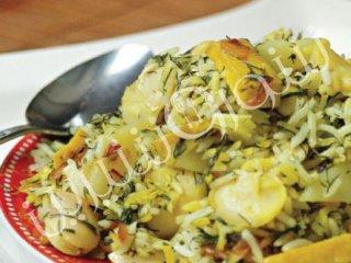 سیب پلو و باقلای زرد | طرز تهیه سیب پلو