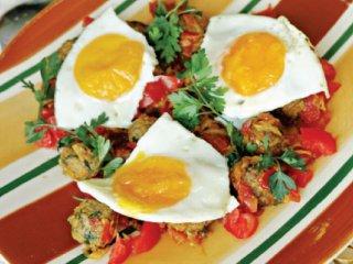 گوشت قلقلی با تخممرغ