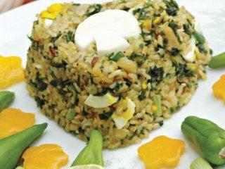 برنج مخلوط قهوهای