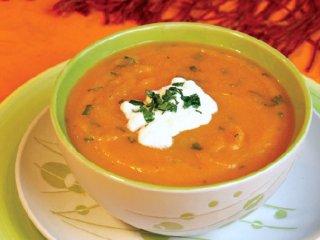 سوپ هویج و كدوحلوائی
