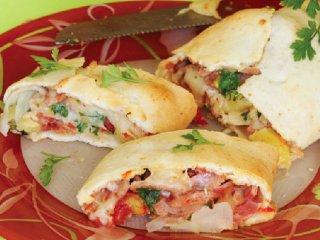 پيتزای رولتی ژامبون و آناناس