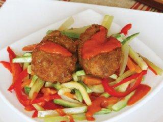 خوراك  مغز با سبزی ها