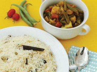 برنج و خورش هندی