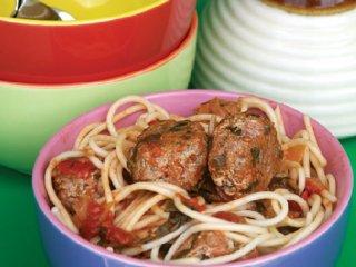 اسپاگتی و كوفته های پنیری