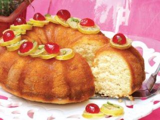 طرز تهیه کیک لیمو و نارگیل