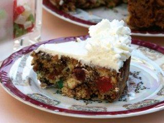 طرز تهیه کیک میوه شكلاتی