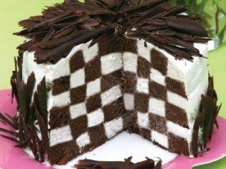 طرز تهیه کیک شطرنجی