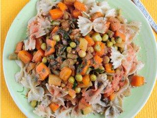 پاستا با سس سبزیجات