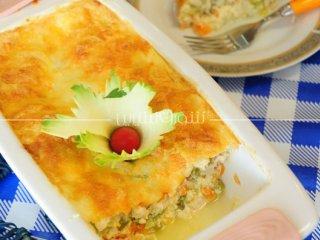 کسرول هویج و مرغ