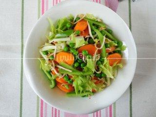 سالاد نخود فرنگی و هویج