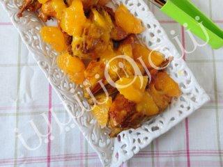 خوراك بلدرچين  با سس پرتقال