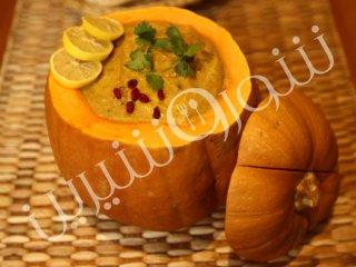 سوپ كدو حلوایی با ليموترش تازه
