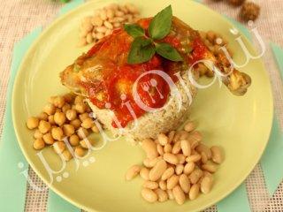 خوراك مرغ مكزیکی به همراه برنج قهوهای