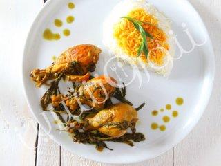 خوراک مرغ و ترخون