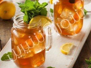چای سرد با نعنا و لیمو