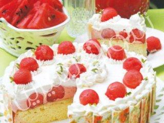 طرز تهیه کیک هندوانه | کیک هندوانه
