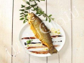 ماهی قزلآلای شکمپر با زیتون