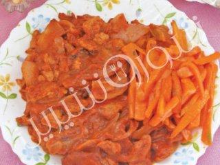 چلو گوشت گیاهی با هویج | طرز تهیه غذای گیاهی