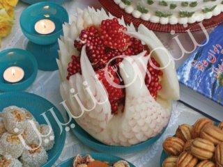 ساختن مرغابی از خربزه | کاردستی تزئین خربزه