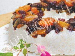 پودینگ برنج با میوههای خشك