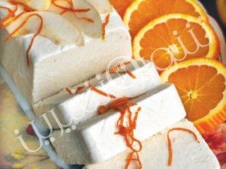 بستنی گلابی با پرتقال يا ليمو