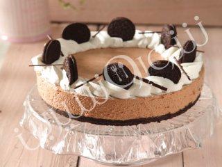 طرز تهیه چیز کیک یخی با شکلات داغ