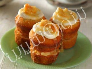 طرز تهیه کاپ کیک با کارامل هلو