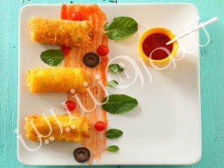 رول مرغ سوخاری با سبزيجات