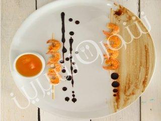 کباب میگو  با سس پرتقال