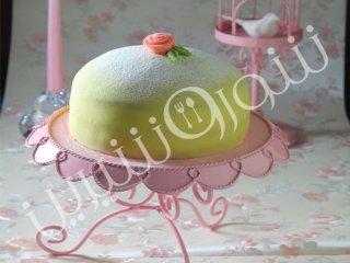 کیک مارسیپان  و  بلوبری
