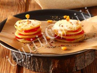گراتن لقمهای سیبزمینی و پنیر