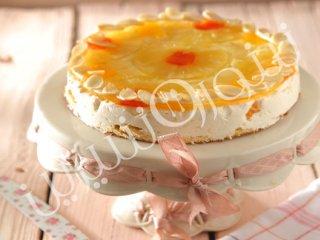 کیک با میوههای استوایی