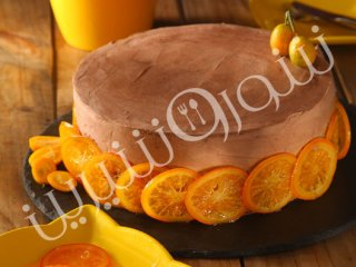کیک  پرتقال و  قهوه