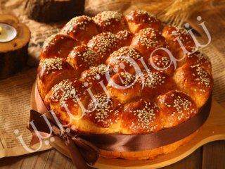 نان با مغز نارگیل  و شیر عسلی