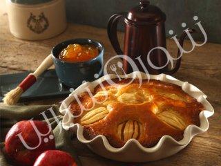 کیک سیب با مارمالاد پرتقال