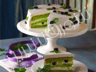 کیک پسته و بلوبری